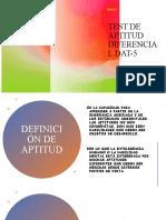 TEST DE APTITUD DIFERENCIAL DAT-5