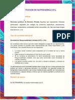 CONSTITUCIÓN DE NUTRIHARINA S.R.L
