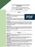 ARTIGO FINAL pdf - MANIPULAÇÃO DE SUBSTANCIAS DE BAIXO INDICE TERAPEUTICO
