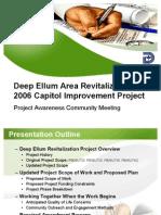 Deep Ellum Project Overview Community Meeting 040711