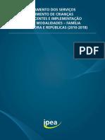 IPEA - Reordenamento Dos Serviços de Acolhimento de Crianças e Adolescentes - 2021