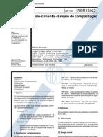 NBR 12023 - 1992 - Solo Cimento - Ensaio de Compactação