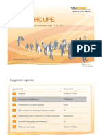 PubliGroupe -- San Francisco backgrounder and agenda