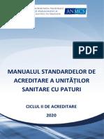 Manualul Standardelor de Acreditare 2020