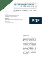 4 principles Shaykh Fawzaan