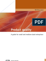 Product Quality. A Guide for Small and Medium-Sized Enterprises