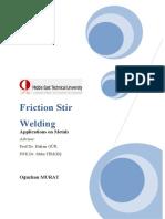 Oğuzhan MURAT- Friction Stir Welding