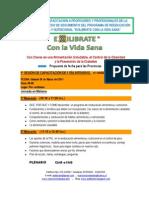 PROGRAMA DE CAPACITACIÓN A PROFESORES Y PROFESIONALES DE LA SALUD EXILIBRATE CON LA VIDA SANA.  CAUQUENES