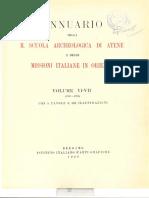 Annuario Della Scuola Archeologica Di At