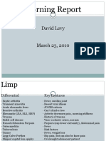 Differential Diagnosis for Pediatric Patient with a Limp 03.23.2011