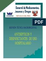 ANTISÉPTICOS Y DESINFECTANTES EN LOS HOSPITALES