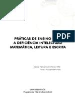 PRÁTICAS DE ENSINO PARA A DEFICIÊNCIA INTELECTUAL- MATEMÁTICA, LEITURA E ESCRITA
