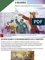 pwp - revisao - da uniao iberica a restauraçao da independencia