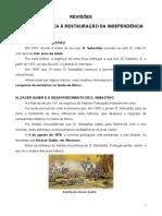 Revisoes - Da Uniao Iberica a Restauraçao Da Independencia