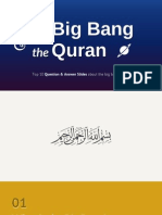 Top 10 Question & Answer Slides about the big bang & Quran