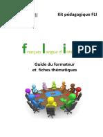 Guide du formateur en FLI