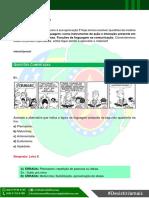 Lista 01 Português - Linguagem como instrumento de ação e interação presente em todas as atividades humanas; funções da linguagem na comunicação