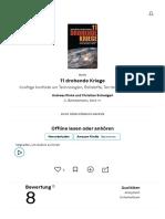 11 drohende Kriege von Andreas Rinke und Christian Schwägerl — Gratis-Zusammenfassung