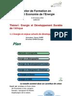 Energie et enjeux actuels de développement