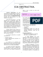 ict obstructiva otra