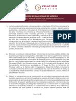 Declaracion VI Cumbre de La CELAC