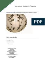 Cúpula de papel para luminária em 7 passos