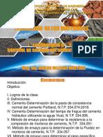 SEMANA 5 .- LABORATORIO N 1 - CONTROL DE LA CALIDAD DEL CEMENTO