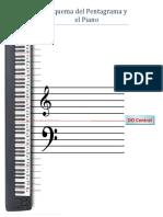 Esquema del Pentagrama y el Piano
