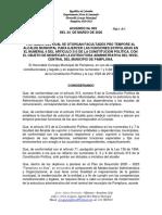 3. ACUERDO 003  DEL 25 DE MARZO DE 2020 POR MEDIO DEL CUAL SE OTORGAN FACULTADES PRO TEMPORE AL ALCALDE MUNICIPAL