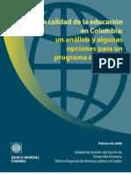 CalidadDeLaEducacionEnColombia