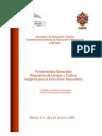 Fundamentos Generales Asignatura de Lengua y Cultura Indígena para la Educación Secundaria - México