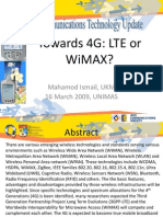 Talk 4G - LTE or WiMAX