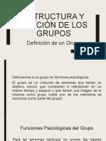 Estructura y función de los grupos