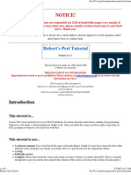 Robert's Perl Tutorial