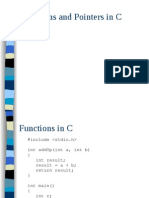 FUNCTION AND POINTERS IN C