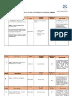 FORMATO DE PLAN DE EVALUCION  LECTURA Y ESCRITURA DE EDUCAION PRIMARIA