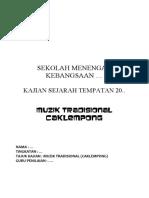 Folio Sejarah Muzik tradisional Caklempong