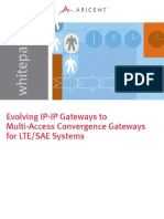 Evolving IP-IP Gateways to Multi-Access Convergence Gateways for LTE-SAE systems