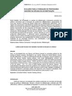 POLÍTICAS CURRICULARES PARA A FORMAÇÃO DE PROFESSORES ALFABETIZADORES NA DÉCADA DA ALFABETIZAÇÃO