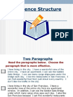 Sentence Structures and Sentence Pattern