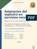 Asignacion Del Espectro en Servicios Moviles