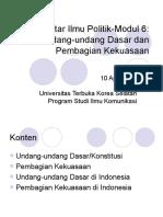 Pengantar Ilmu Politik-Modul 6