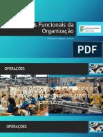 Áreas Funcionais da Organização