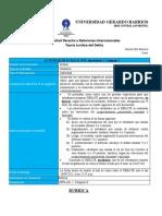 Lab. 1, Cómp. II. Debate Sobre Comportamiento Penalmente Relevante y Tipicidad.