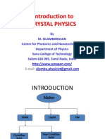 Introduction Crystal Physics