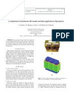 A comparison of transformer HF models and their application to PQ analysis