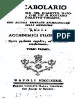 Vocabolario toscano 1600