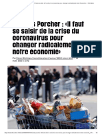 (8) Thomas Porcher _ «Il Faut Se Saisir de La Crise Du Coronavirus Pour Changer Radicalement Notre Économie» - Libération