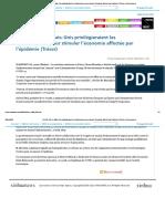 (COVID-19) Les Etats-Unis Privilégieraient Les Infrastructures Pour Stimuler l'Économie Affectée Par l'Épidémie (Trésor)_French.news.Cn