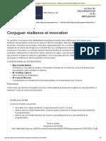 » Conjuguer Résilience Et Innovation - Institut d'Administration Publique de Québec